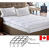 Down Topper Feather bed / Mattress Topper Made In Canada (King)