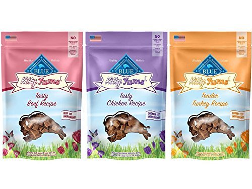 3 Pack Blue Buffalo Kitty Yums Cat Treat Variety Pack (Salmon, Turkey, and Chicken) (Blue Cat Treats)