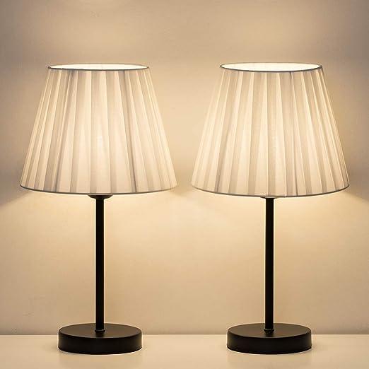 XIBALI Lámparas de Mesa de Noche - Lámparas pequeñas de mesita de ...