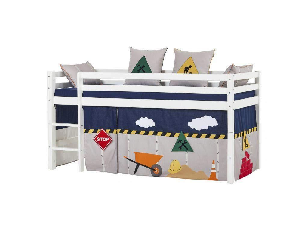 HOPPEKIDS Construction Vorhang für Spielbett oder Etagenbett 90x200 cm 36-2651-CO-09A
