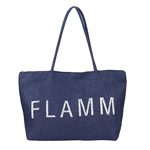 Vowes Women's Shoulder Bag Hand Bags Shopping Bag Fashion Zipper Letters Print Large Capacity Beach Bag
