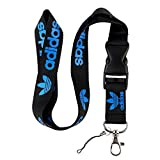 Best Landyards - Black & Blue Logo Keychain Key Chain Black Review