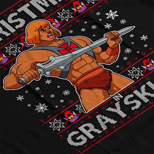 Hooded Christmas Women's He Man Grayskull In Black Sweatshirt HR7WzFq