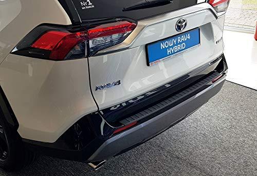 Ladekantenschutz Sto/ßstange schwarzes ABS f/ür Rav4 V Modelle von 2018