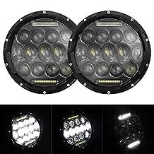 "2x 7"" 75W LED Headlights bulb for Jeep Wrangler JK CJ LJ Hummer H1 H2 LED Projector Driving Lamps DRL"