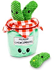 Pet Craft Supply Hide and Seek Plush Dog Toys Crinkle Squeaky Interactive Burrow Activity Puzzle Chew Fetch Treat Hiding Brain Stimulating Cute Funny Toy Bundle Pack for Small and Medium Dogs Puppies