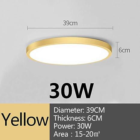 WSYYWD Lámpara de techo LED 220v Iluminación Lámpara redonda ...