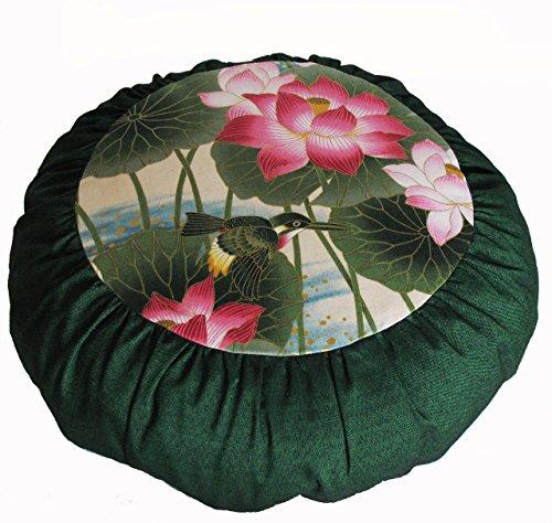 Meditation Cushion Zafu Pillow for Children - Lotus and Hummingbird
