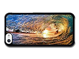 MMZ DIY PHONE CASEAMAF ? Accessories Big Wave to Surf In Sunset case for iphone 6 plus 5.5 inch