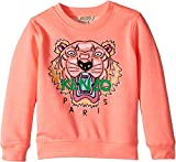 Kenzo Kids Baby Girl's Sweat Classic Tiger (Toddler/Little Kids) Neon Corail 4A