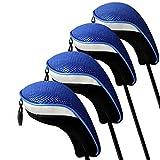 Elemart Golf Hybrid Club Head Covers - Pack of 4 Interchangeable No. Tag Neoprene Mesh Golf Hybrid Club Head Covers