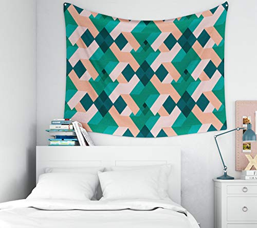 Capsceoll Aztec-Abstract-Geometric Tapestry,Tapestry for Men, 60x50Inches Seamless Abstract Geometric Triangle Background Pattern in vectorFashion Wallpaper neon Colored prin Tapestry Wall Hanging
