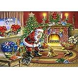 5D DIY Diamond Painting kit Rhinestone Embroidery Cross Stitch Arts Craft for Christmas Home Wall Decor (Multicolored B)