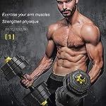 AYHa-Regolabile-Dumbbell-peso-libero-Set-rivestito-di-gomma-con-manubri-Home-Fitness-Attrezzatura-Bilanciere-muscolo-del-corpo-Training-20KgNero10kg