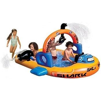 banzai aqua explorer inflatable submarine pool toys games