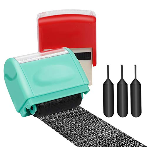 - Itari Identity Theft Protection Stamp for Id Blockout,Privacy Confidential and Address Blocker 2 Pcs Set with 3 Refill Inks