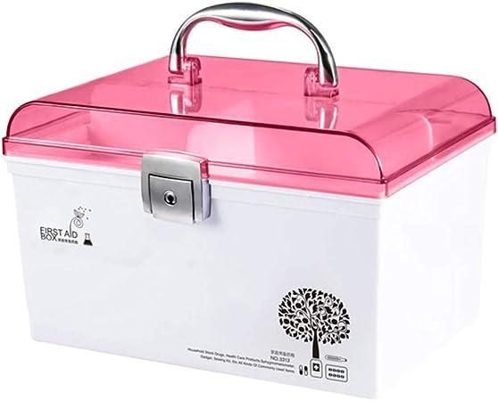 Botiquín Estuche de Primeros Auxilios Caja de medicamentos Inicio Kit de Primeros Auxilios de múltiples Capas Caja de Almacenamiento de medicamentos médicos Dormitorio Familiar Portátil LCSHAN: Amazon.es: Hogar