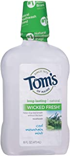 product image for Tom's of Maine Wicked Fresh! Mouthwash Cool Mountain Mint 16 oz (Pack of 8)