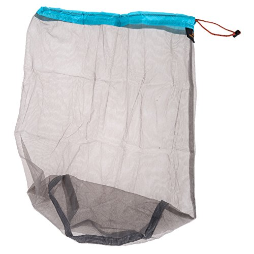 Travel Ultralight Mesh Drawstring Storage Bag Blue - 2