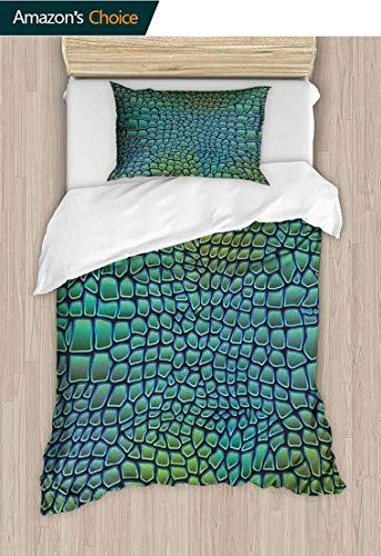 PRUNUS-Home Abstract 3D Bedding Quilt Set,Alligator Skin Animal