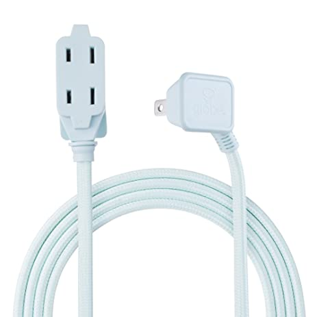 Globe Electric Designer Series 9-ft Fabric Extension Cord, 3 ...