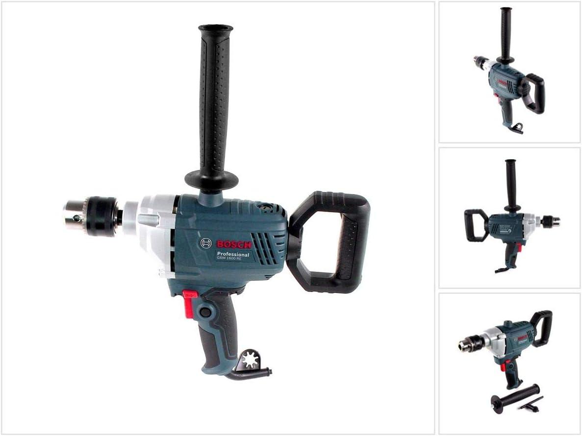 Bosch Professional GBM 1600 RE - Taladro sin percusión (850 W, Ø max perforación acero 16 mm, empuñadura giratoria 360°, en caja)