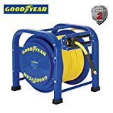 GOODYEAR Elite Heavy Duty Pro Spring Driven Steel Retractable Hose Reel (3/8 in. x 100 ft.), with 2 Years Warranty