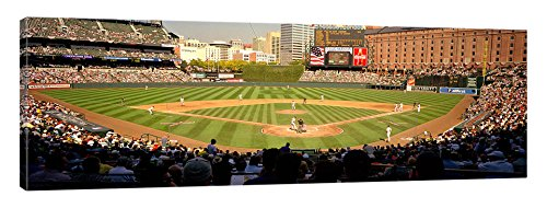 iCanvasART Camden Yards Baseball Game Baltimore Maryland USA Canvas Print, 20'' x 0.75'' x 60''