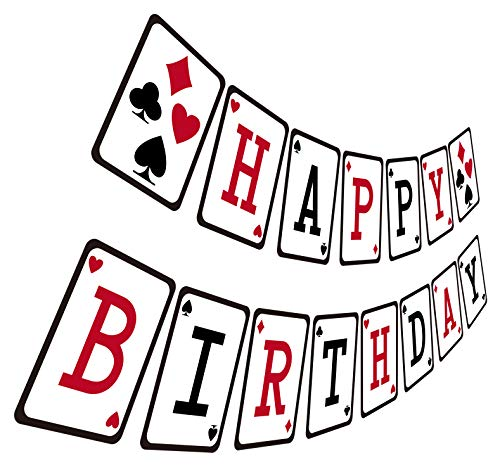 Vegas Themed Decorations - Casino Birthday Banner, Casino Night Poker
