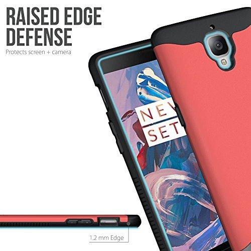 OnePlus 3 Funda, Caja protectora TUDIA MERGE TAREA PESADA Protección EXTREME de doble capa para OnePlus Three (Menta) Rosa