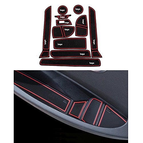 Sport Series Slip - Car Gate Slot Pad Rubber Car Door Groove Mat Non-slip Mat Fit For BMW 3 Series 316 320 328 335 Car-Styling 11pcs Red