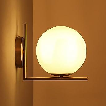 Jiayoujia Applique Murale Lampe De Mur Led Globe Boule De Verre