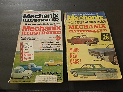 4 Issues Mechanix Illustrated Nov 1960, Mar, June, Nov 1972 Mini P/U