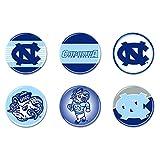 North Carolina Tar Heels Official NCAA .75'' Button Set 6-Pack