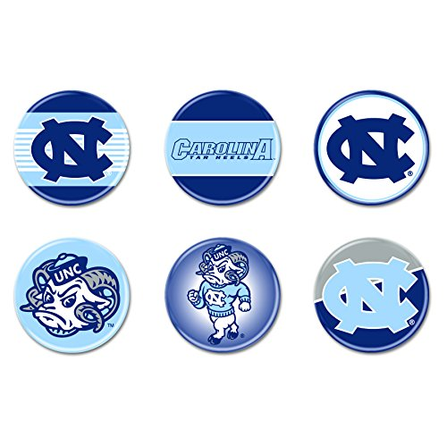 North Carolina Tar Heels Official NCAA .75'' Button Set 6-Pack by WinCraft