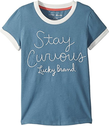 Lucky Brand Big Girls Graphic Tee  Jasmeen Aegean Blue  Small  7