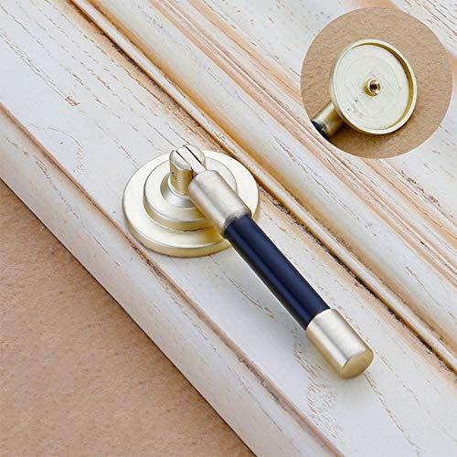 Manakayla Chinese Shoe Cabinet Knobs and Rings Imitation Copper Drawer Antique Handles Gold 6908 Single Hole Single Hole
