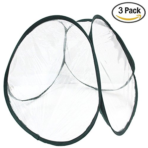 Mini Greenhouse Value Set — Pack of 3 Small Pop-Up Greenhouse Plant Covers (Indoor, Outdoor) (3 Pack)