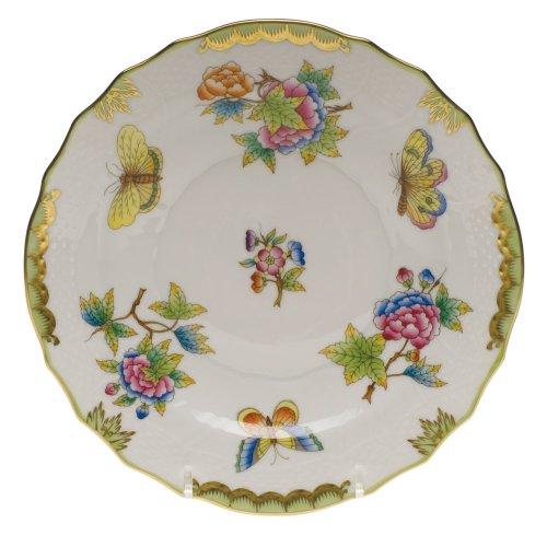 - Herend Queen Victoria Green Porcelain Salad Plate