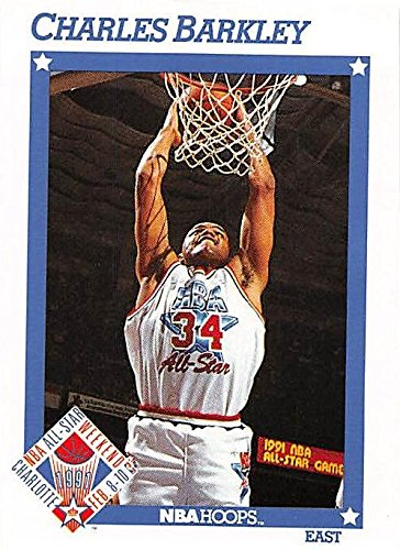 Autographed Barkley Basketball (Charles Barkley Basketball Card (Philadelphia 76ers) 1991 Hoops All Star #248)
