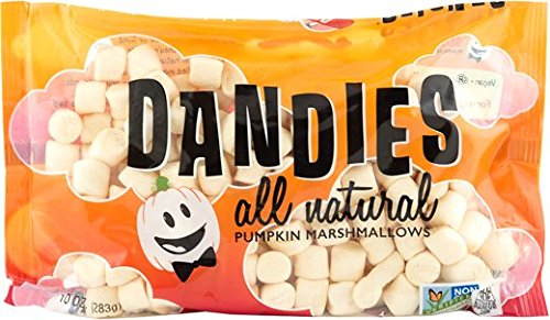 Dandies - Vegan Marshmallows - Pumpkin, 10 oz. Bag (Pack of 4)