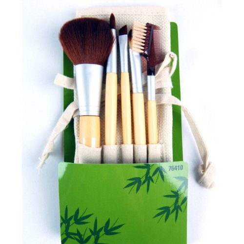 Elixir Beauty Cala Studio Pro Makeup Cosmetic Professional Bamboo Make-up Brush Set Kit with Case, 5pc (Cala Makeup Brushes compare prices)