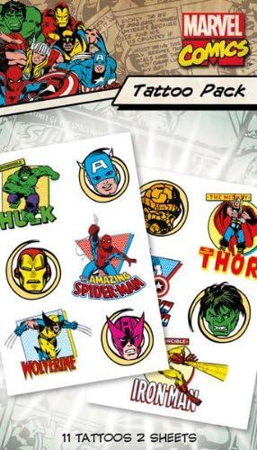 Tatuajes / Calcomanías Temporales de Marvel Comics: Amazon.es: Hogar