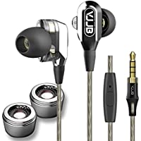High Definition Wired Dual In-Ear Headphones High Resolution Heavy Bass Noise Cancelling Earbuds with HD Microphone for Smartphones Laptops Ipads & Gaming Devices