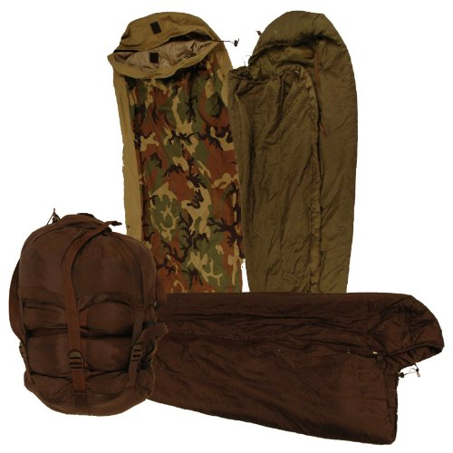 Military US Army Issue Complete 4 Part System Sleep NEW / Like NEW, Outdoor Stuffs