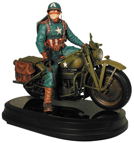 Gentle Giant Studios Ultimate Captain America on Motorcycle Statue