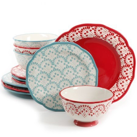 The Pioneer Woman Betsy Mix and Match 12-Piece Dinnerware Set -