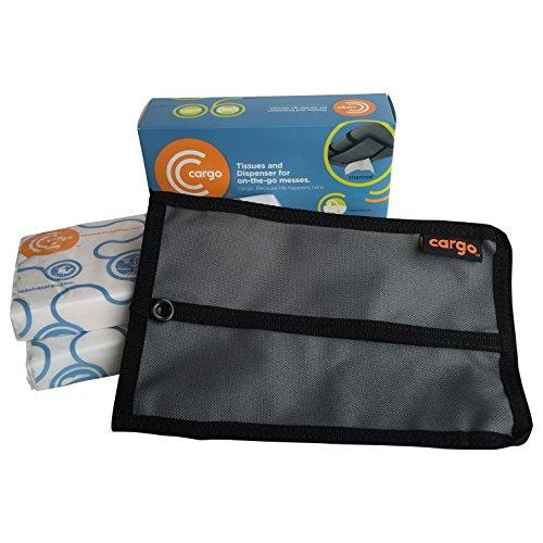 Cargo Tissues and Dispenser/Holder/Case for Your Cars Sun Visor: Starter Kit (Charcoal Gray)