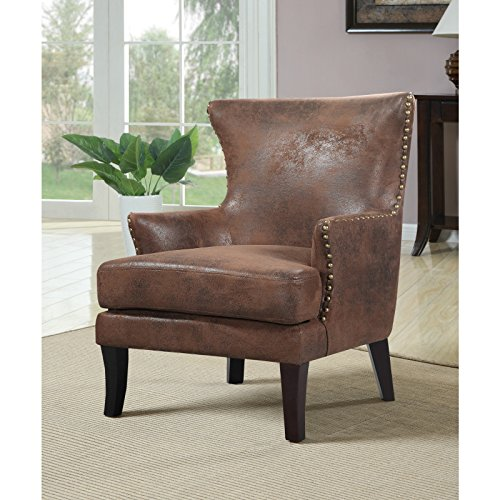 Overstock Zofia Arm Chair, Brown