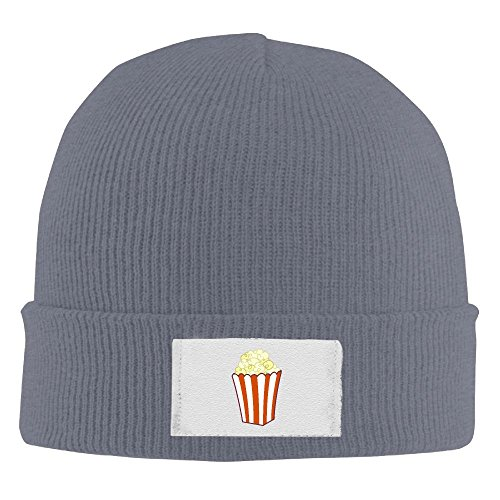 Popcorn Art Unisex Woolen Hat Daily Lamp Knitted Warm Caps